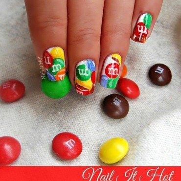 M&M's nail art by Nail_it_hot