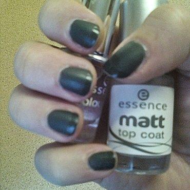 Grey matt nail art by Daniela Kelečeniova