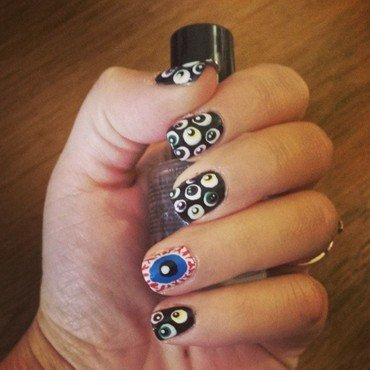 Eyeballs2 nail art by Marisa