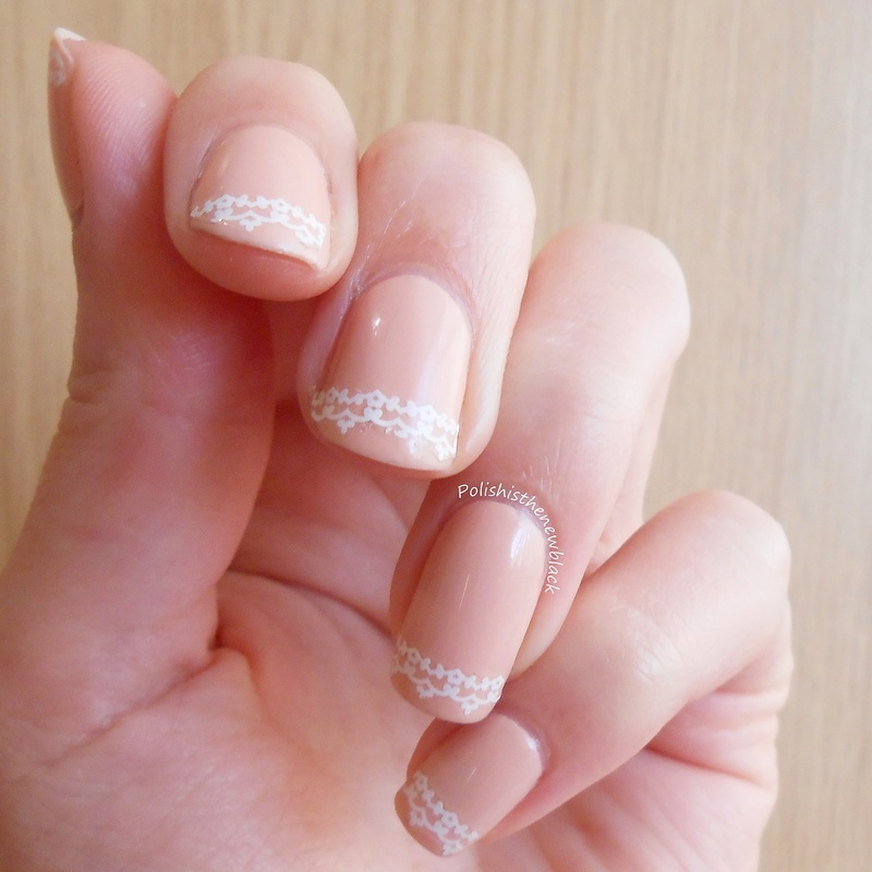 Lace nails nail art by Polishisthenewblack