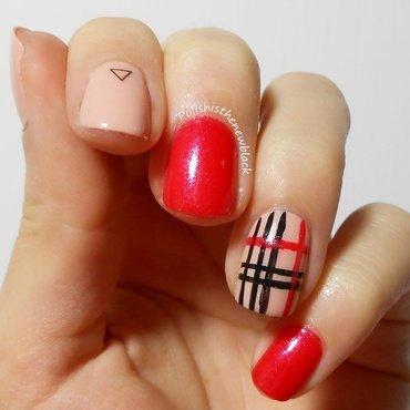 Tartan Nails nail art by Polishisthenewblack