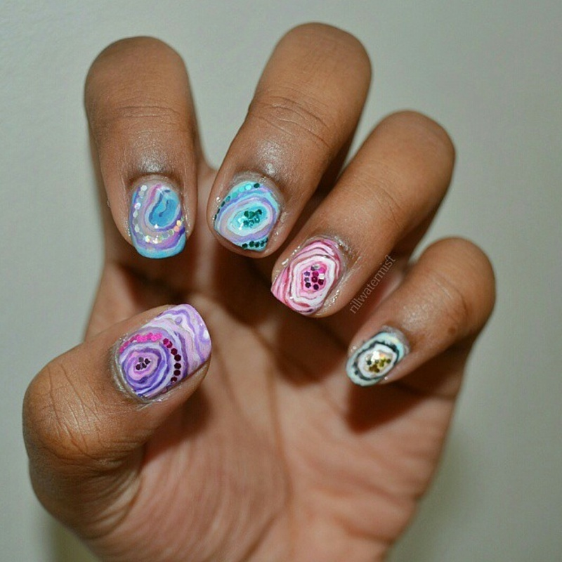 crystalized nail art by tyler cannida