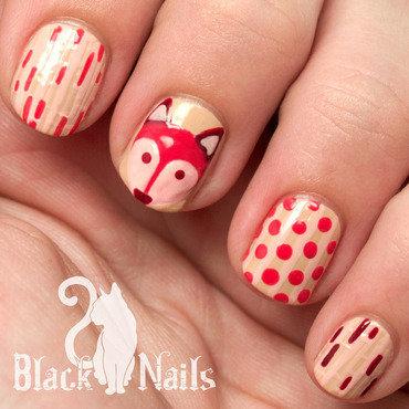 Pink Fox Geometric Nail Art nail art by Black Cat Nails