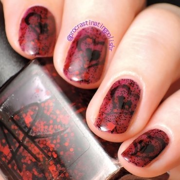 Dark Hearts nail art by Jae Harrison
