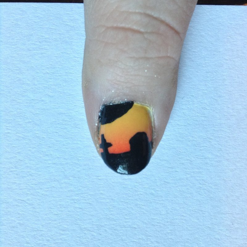 Ombre' Sunset Cemetery Nail