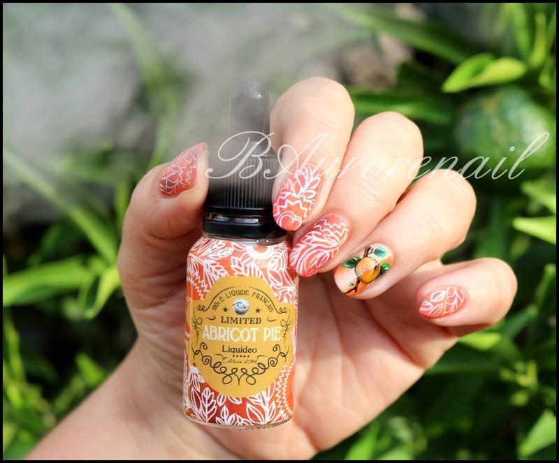 abricot pie nail art by BAurorenail