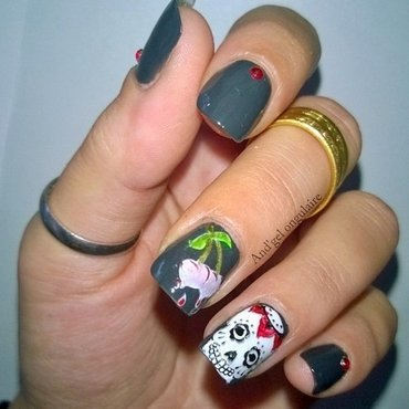 Halloween 🎃 Skulls  nail art by And'gel ongulaire