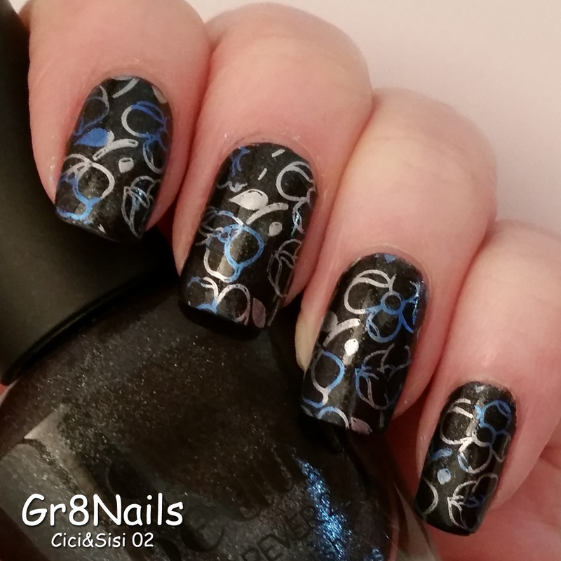 gradiant stamping nail art by Gr8Nails