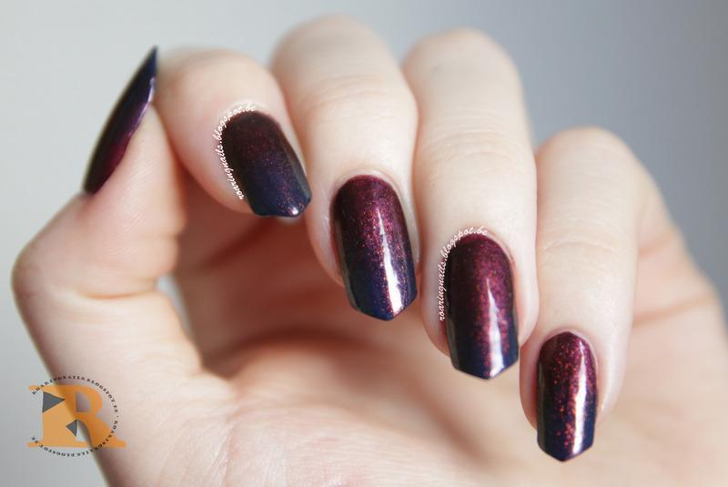 Dark Magic Gradient nail art by Robin