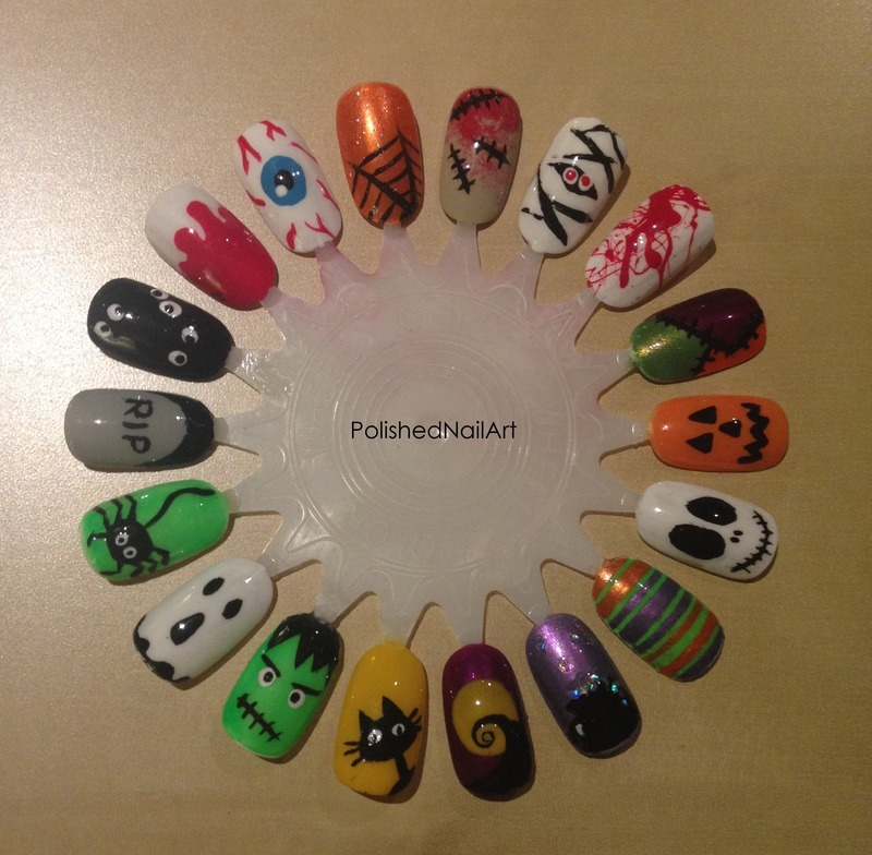 Halloween! nail art by Carrie