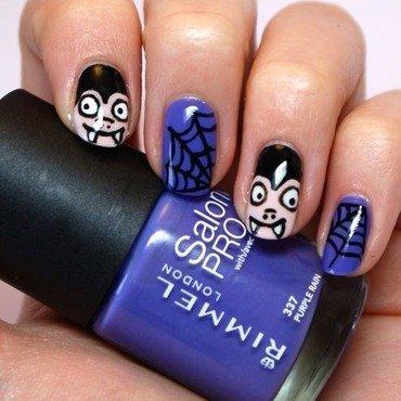 Halloween Vampire Nail Art nail art by Pardon My Nails