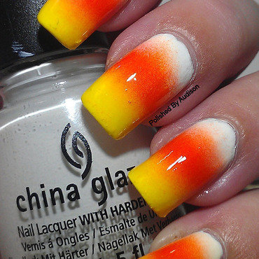 Candy Corn Nail Art nail art by Ashley Hoopes