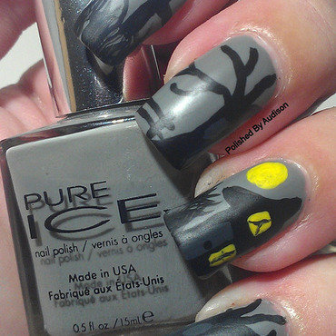 Haunted House Nail Art nail art by Ashley Hoopes