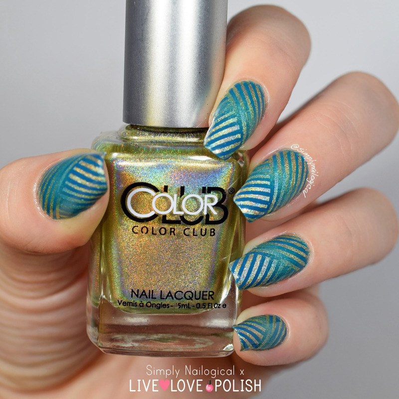 Holo & creme intricate reciprocal gradient nail art by simplynailogical