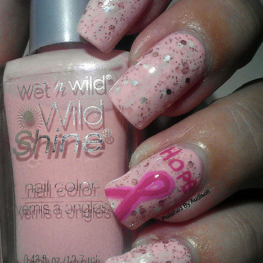 2014 Breast Cancer Awareness Nail Art nail art by Ashley Hoopes