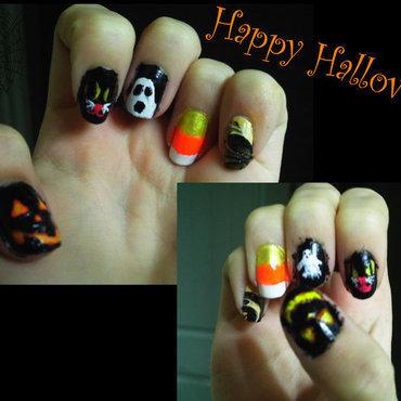 Halloween!  nail art by JessJar19