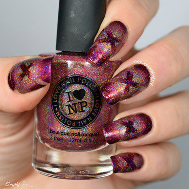 Holo reciprocal X round gradient nail art by simplynailogical