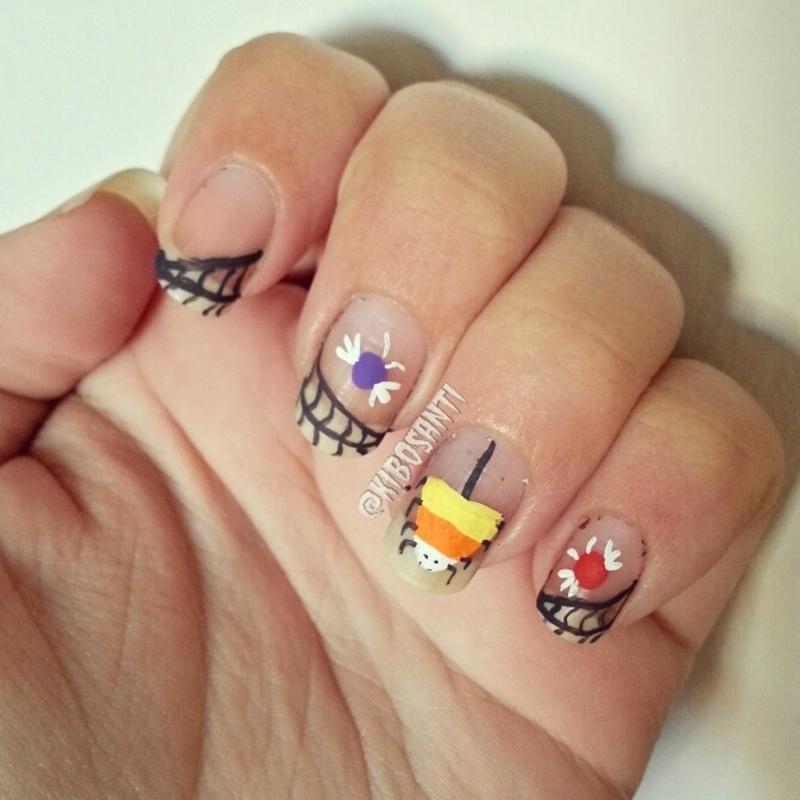 October challenge day 24 Cute to Creepy  nail art by KiboSanti