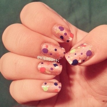 October challenge day 25 Trick or Treat (part 2) nail art by KiboSanti