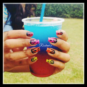 Dripping Nails nail art by roshani98