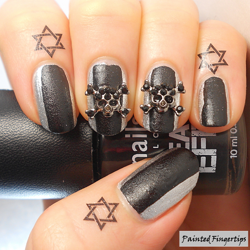 Halloween NailCandi Skulls  nail art by Kerry_Fingertips
