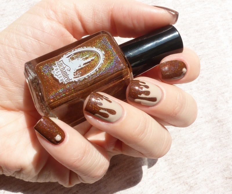 Hot Chocolate Nail Art Nail Art By The Prophecin Nailpolis Museum