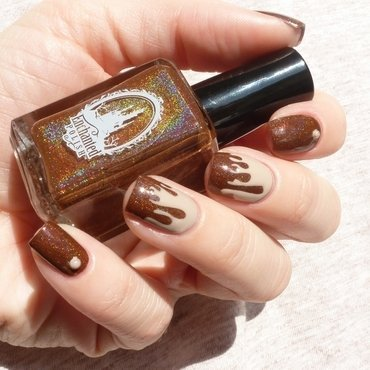 Hot chocolate nail art nail art by THE PROPHECIN