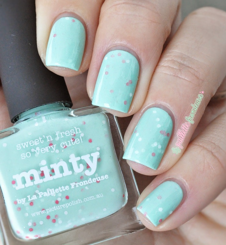 piCture pOlish Minty Swatch by nathalie lapaillettefrondeuse