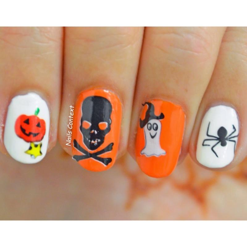 Halloween Water Decals nail art by NailsContext