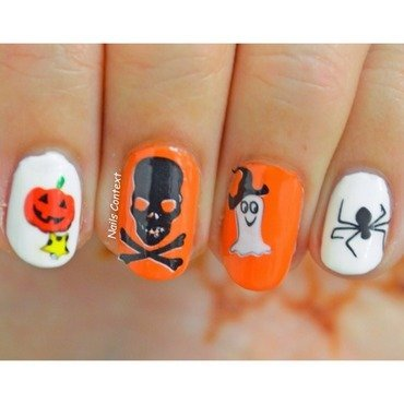 Halloween Water Decals nail art by NailsContext