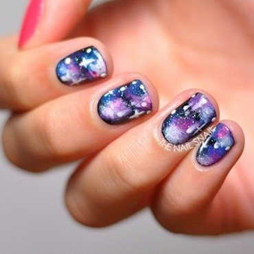 Galaxy Nails nail art by Lucy (the Nail Snail)