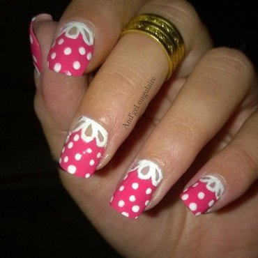 Girly nails et dentelle nail art by And'gel ongulaire