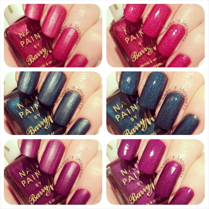 Barry M Poppy, Barry M Forest, and Barry M Orchid Swatch by Rebecca