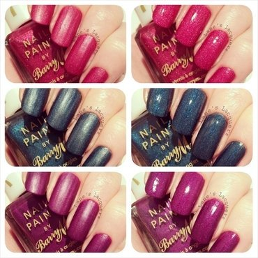 New barry m silk swatches with and without topcoat thumb370f