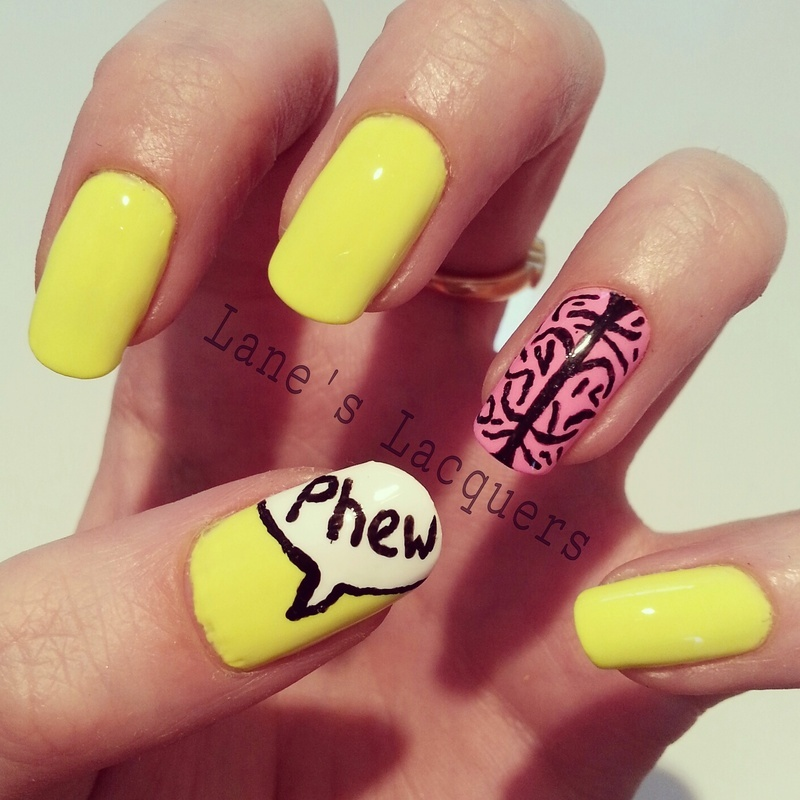 Mental Health Awareness Manicure nail art by Rebecca