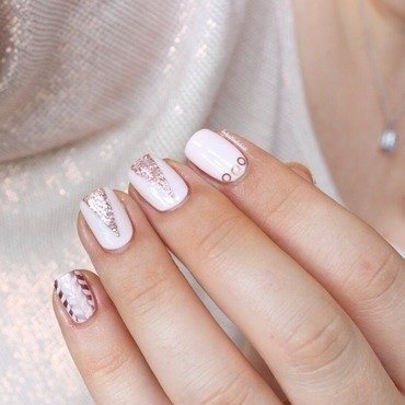Sweet mix&match  nail art by Bidibulle