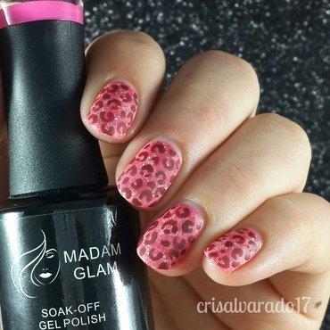 Bloody leopard print nail art by Cristina Alvarado