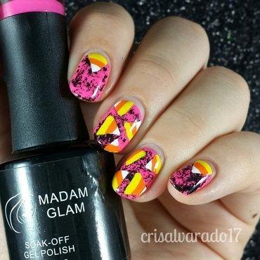 Candy corn! nail art by Cristina Alvarado