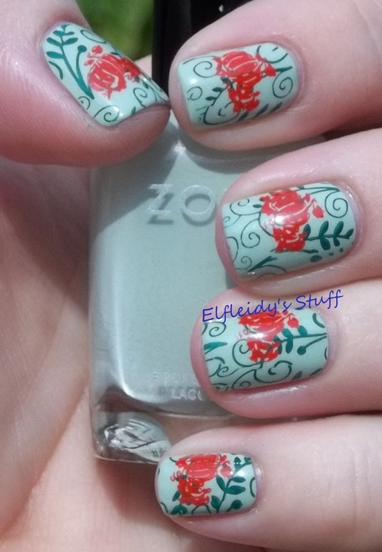 October's monthly palette project nail art by Jenette Maitland-Tomblin