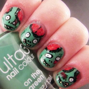 Cartoon Zombies nail art by Melissa (Clavum Es)