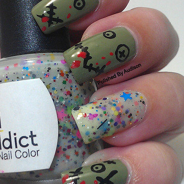 Zombie Nail Art nail art by Ashley Hoopes
