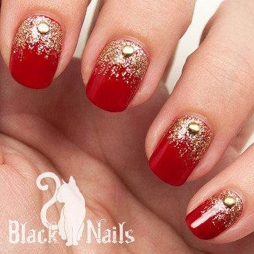 Pure Ice Bare It All Festive Xmas Nail Art nail art by Black Cat Nails