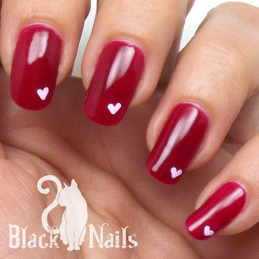 Simple Pink on Pink Valentines Day Nails nail art by Black Cat Nails