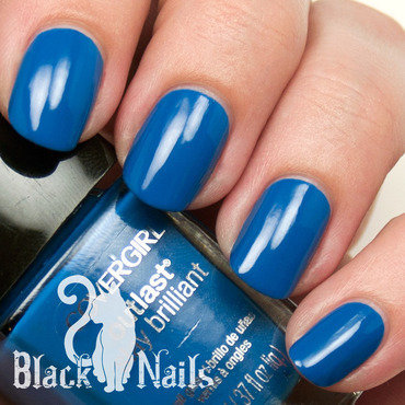 Covergirl Out of the Blue Swatch nail art by Black Cat Nails