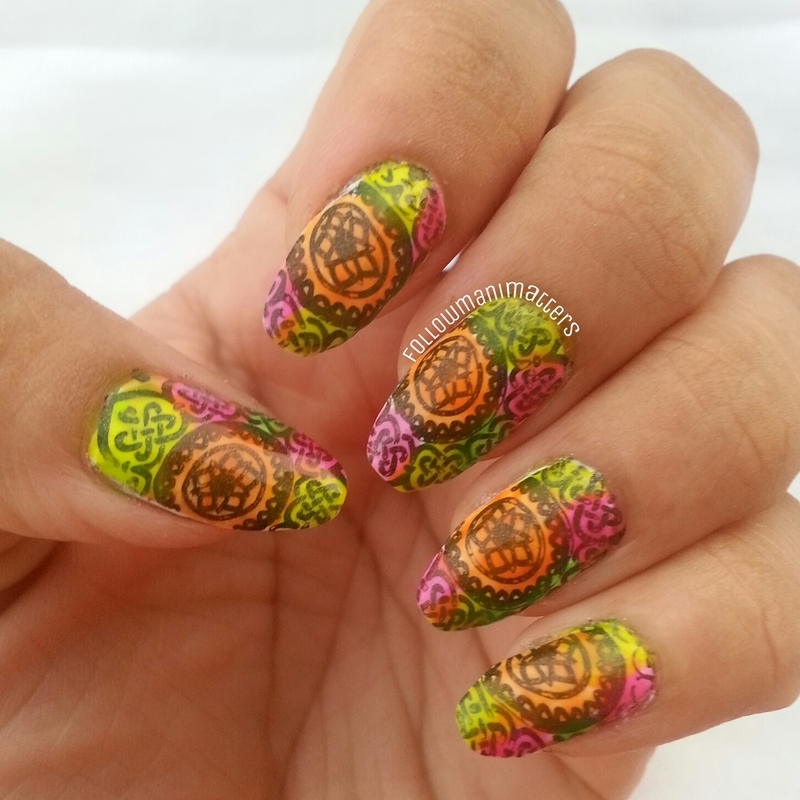 Rangoli nail design for Diwali nail art by Manisha Manimatters
