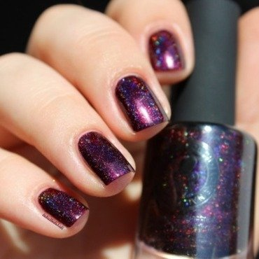 ILNP Black Orchid Swatch by Bidibulle
