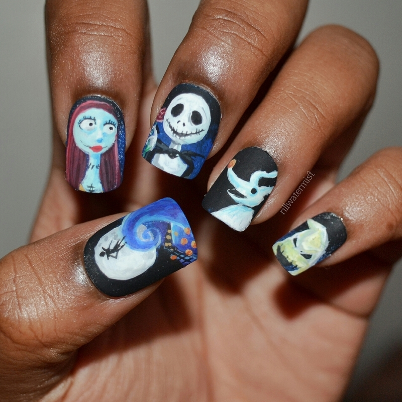 Nightmare Before Christmas Nail Art By Tyler Cannida Nailpolis
