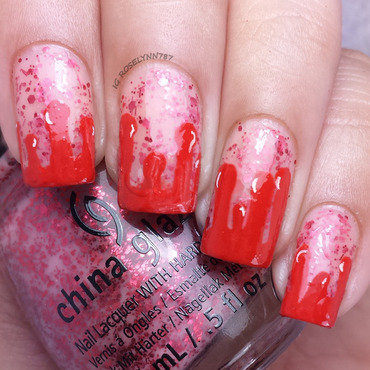 Halloween blood drops nailart thumb370f