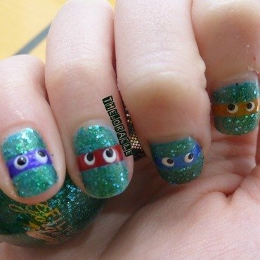 Teenage Mutant Ninja Turtles nail art by The_Oracle