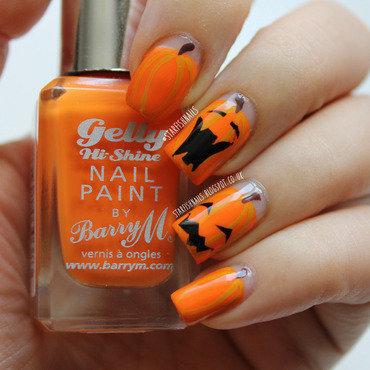 Pumpkins nail art by Lisa Yabsley
